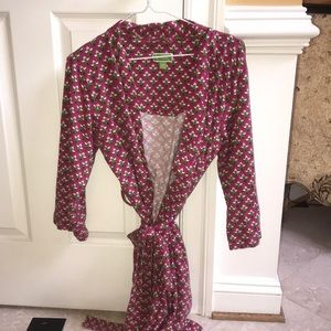 Vera Bradley Cotton Robe Sz S/M